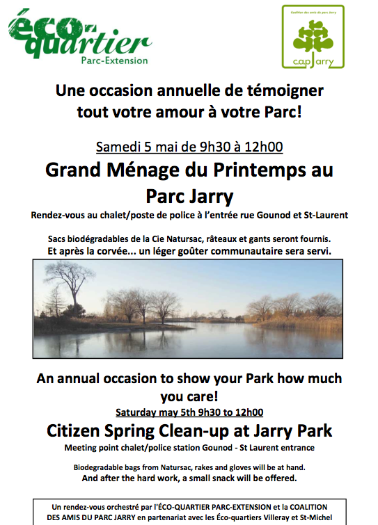Corvée Parc Jarry 2012 - Jarry Park 2012 clean-up
