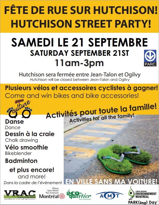 En ville sans ma voiture à Parc-Extension 2013 / No-car day in Park Extension 2013